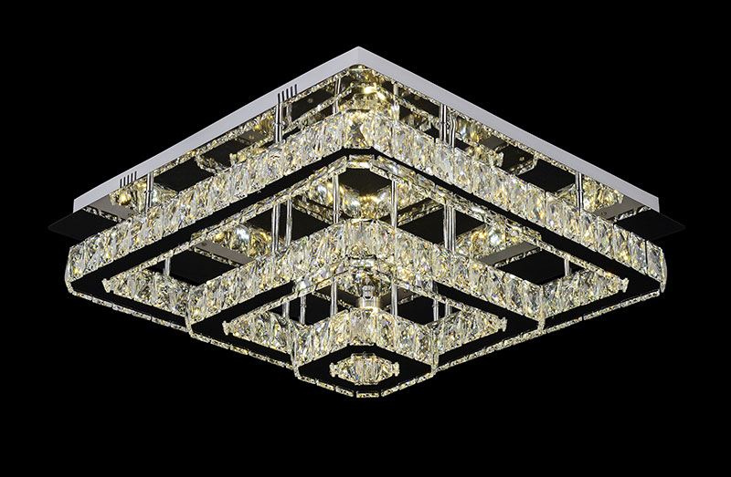 2019 classic square LED crystal ceiling lamp decorative lightings